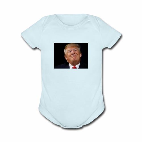 donald trump - Organic Short Sleeve Baby Bodysuit