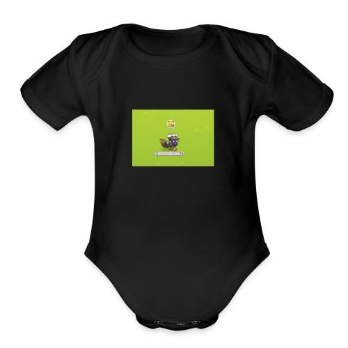 Awesomecoolkawaii emote shirt - Organic Short Sleeve Baby Bodysuit