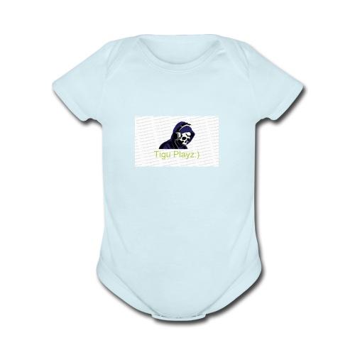 Tigu Playz:) - Organic Short Sleeve Baby Bodysuit