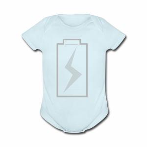 battery charging - Short Sleeve Baby Bodysuit