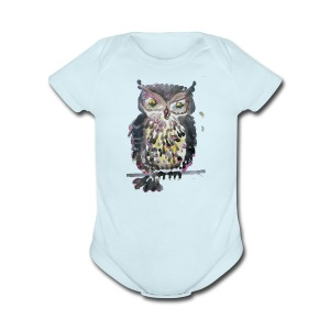 Barnacle Woot Owl - Short Sleeve Baby Bodysuit