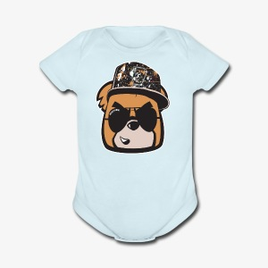 Bearly Fresh FACEONLY - Short Sleeve Baby Bodysuit