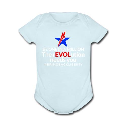 WILDMAIN2 - Organic Short Sleeve Baby Bodysuit