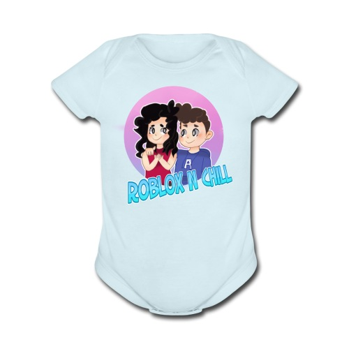 Pastel Roblox N Chill - Organic Short Sleeve Baby Bodysuit