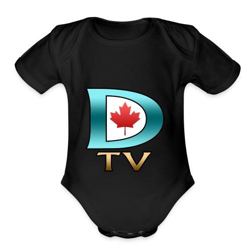 Dolynny TV Logo - Organic Short Sleeve Baby Bodysuit