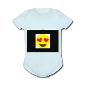 Love Heart - Short Sleeve Baby Bodysuit