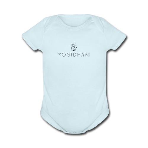 Yogidham Dark Logo - Organic Short Sleeve Baby Bodysuit