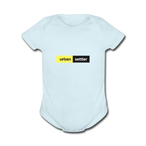 urban settler - Short Sleeve Baby Bodysuit