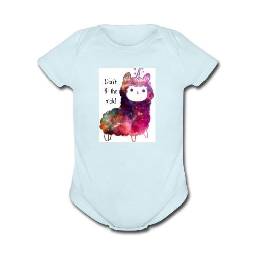 Believe in Magic Llamacorn - Organic Short Sleeve Baby Bodysuit