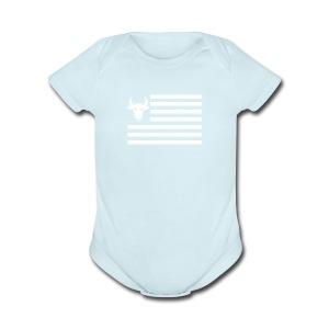 PivotBoss Flag White - Short Sleeve Baby Bodysuit