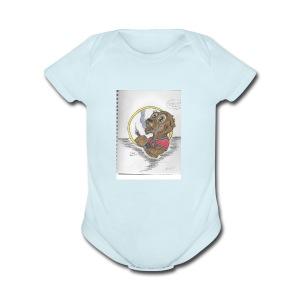 toker the gopher - Short Sleeve Baby Bodysuit