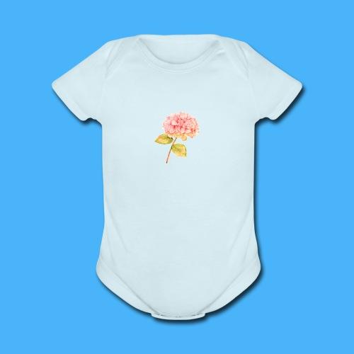 Pink Floral - Organic Short Sleeve Baby Bodysuit