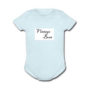 Vintage - Short Sleeve Baby Bodysuit