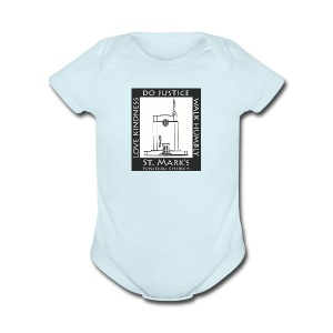Black St. Mark's Logo - Short Sleeve Baby Bodysuit