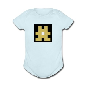 YELLOW hashtag - Short Sleeve Baby Bodysuit