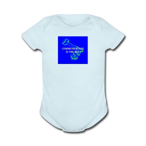 Communication - Organic Short Sleeve Baby Bodysuit