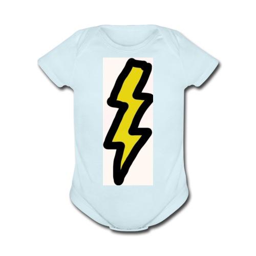 fab lightning - Organic Short Sleeve Baby Bodysuit
