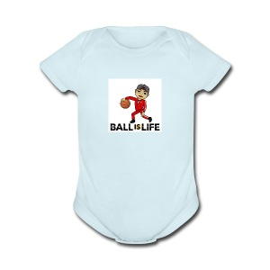 Ball is Life - Short Sleeve Baby Bodysuit