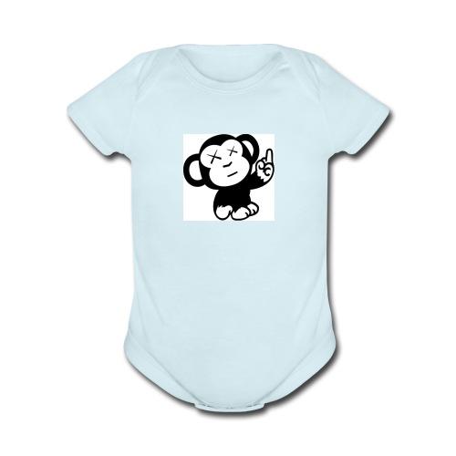 jdm1137 - Organic Short Sleeve Baby Bodysuit