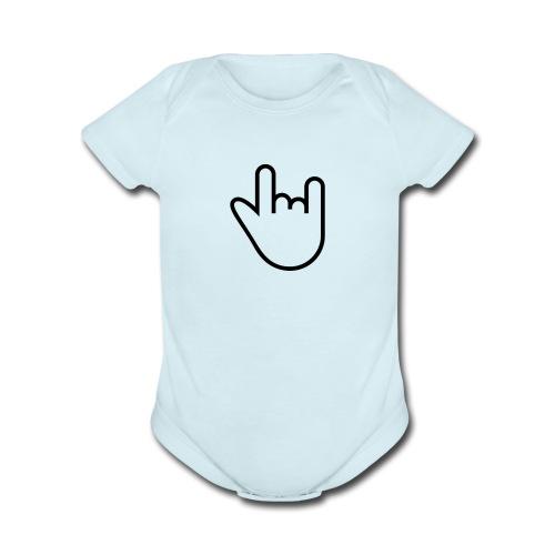 """Rock n Roll"" - Organic Short Sleeve Baby Bodysuit"