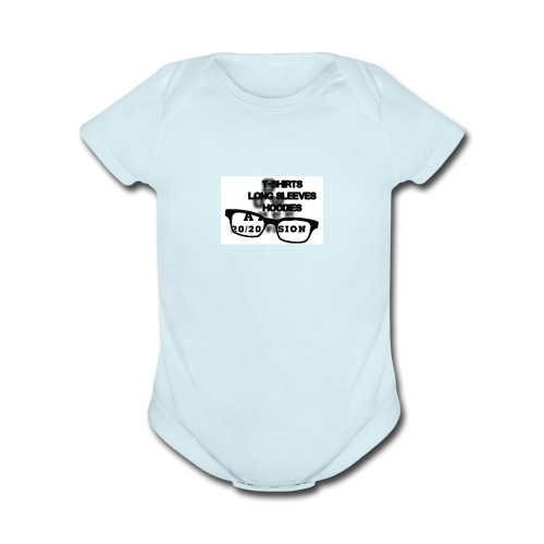 main index 2020 vision logo glasses copy - Organic Short Sleeve Baby Bodysuit