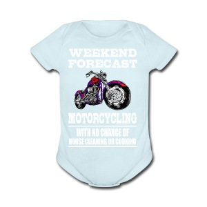 Weekend Forecast Motorcycling Motorcycle - Short Sleeve Baby Bodysuit