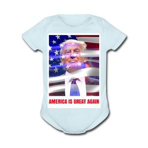 AMERICA IS GREAT AGAIN - Short Sleeve Baby Bodysuit
