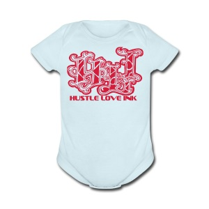 HUSTLE LOVE INK - Short Sleeve Baby Bodysuit