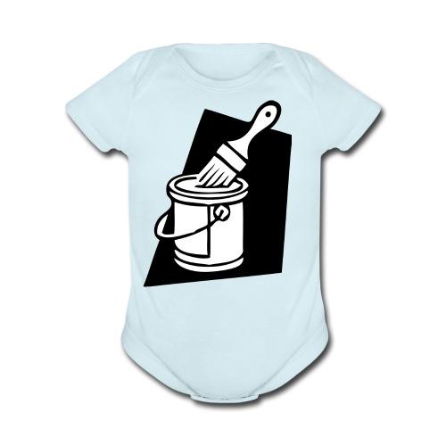 paintbrush - Organic Short Sleeve Baby Bodysuit