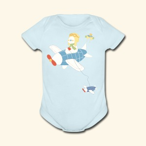baby aircraft - Short Sleeve Baby Bodysuit
