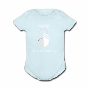 WWCFNA Forever learning white - Short Sleeve Baby Bodysuit