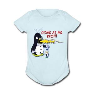 Guin - The P.O.'d Penguin - Short Sleeve Baby Bodysuit