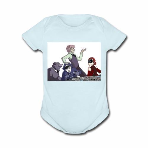 Evil con crane - Organic Short Sleeve Baby Bodysuit
