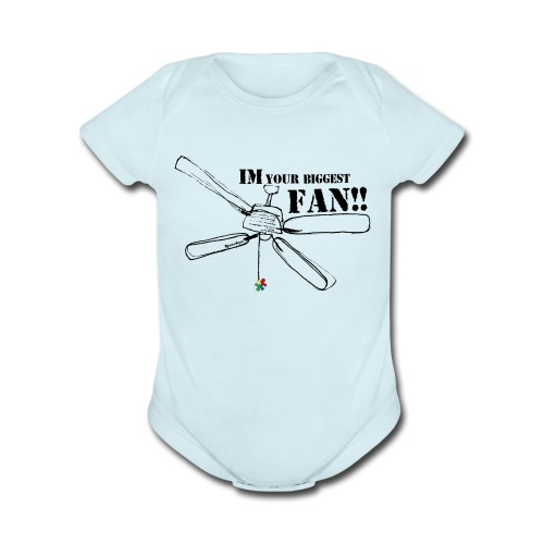 Puzzle Piece fan shirt - Organic Short Sleeve Baby Bodysuit