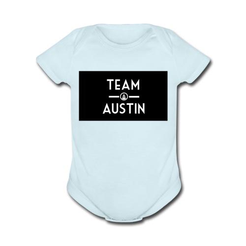 Team Austin Youtube Fan Base - Organic Short Sleeve Baby Bodysuit