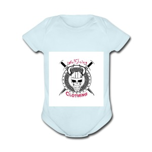 Skull sheild - Short Sleeve Baby Bodysuit