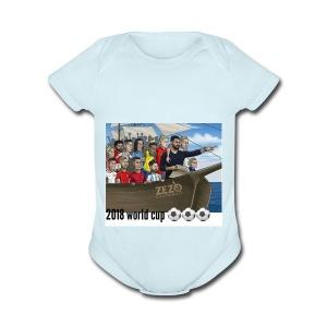 world cup - Short Sleeve Baby Bodysuit