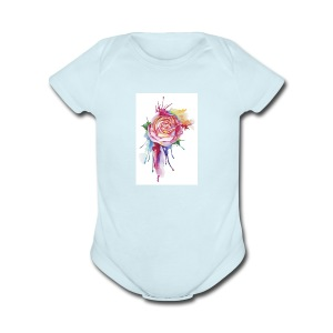 Bloom where you are planted - Short Sleeve Baby Bodysuit