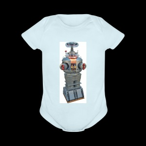 vacile droid - Short Sleeve Baby Bodysuit