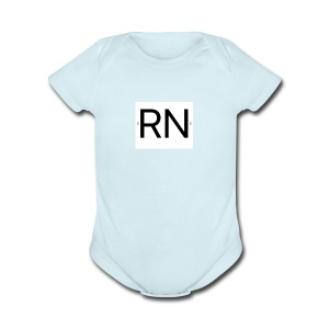 RN_Logo_small - Short Sleeve Baby Bodysuit