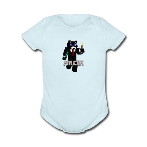 Mrcat - Organic Short Sleeve Baby Bodysuit