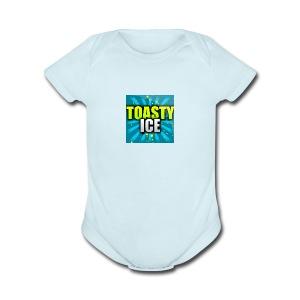 ToastyIce Logo - Short Sleeve Baby Bodysuit