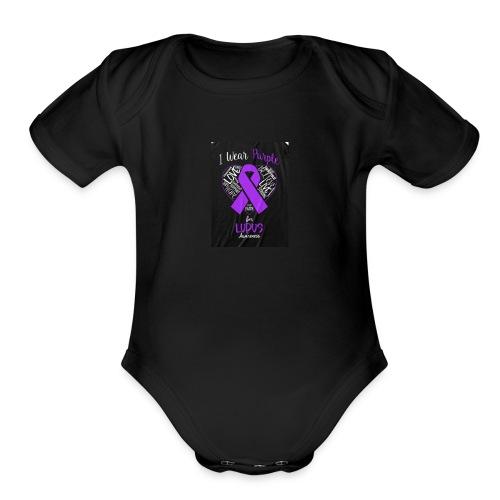 Lupus warrior - Organic Short Sleeve Baby Bodysuit