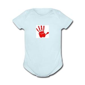 Victory high five - Short Sleeve Baby Bodysuit