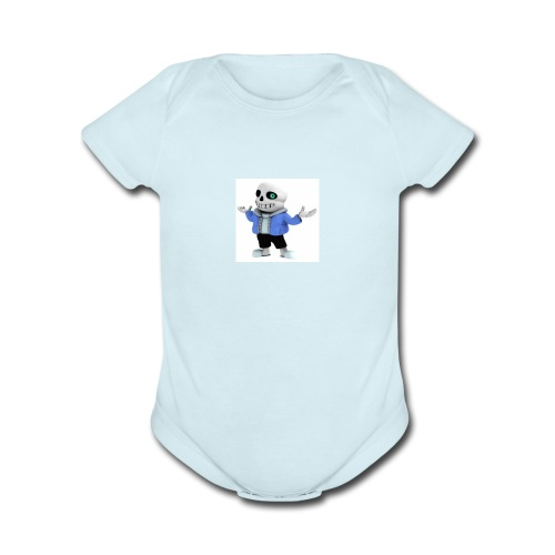 undertale-sans i hope you like it - Organic Short Sleeve Baby Bodysuit