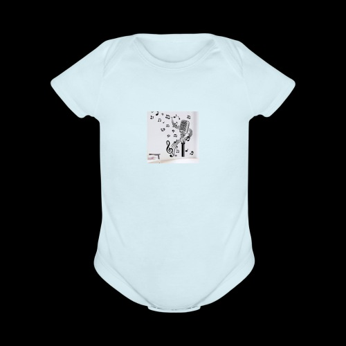 Music Mic - Organic Short Sleeve Baby Bodysuit