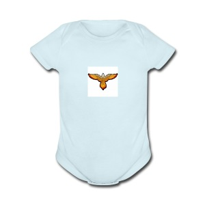 p4979 flaming eagle lg 1 - Short Sleeve Baby Bodysuit