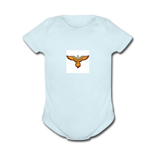 p4979 flaming eagle lg 1 - Organic Short Sleeve Baby Bodysuit