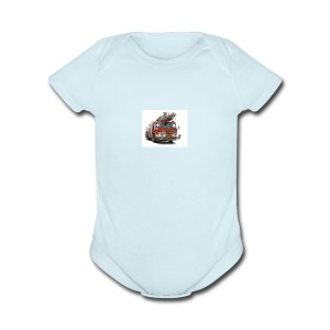 fire - Short Sleeve Baby Bodysuit
