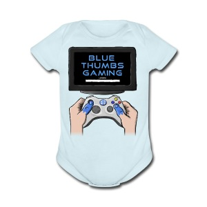 Blue Thumbs Gaming: Gamepad Logo - Short Sleeve Baby Bodysuit